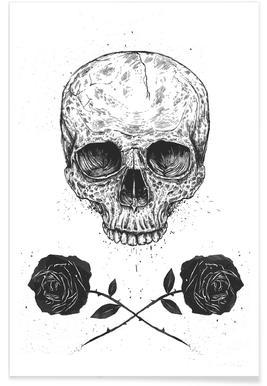 Skull N' Roses Poster