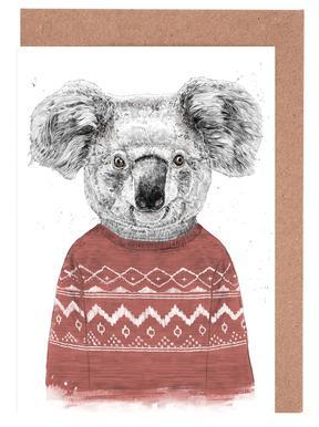 Winter Koala Red