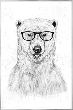Geek Bear poster in aluminium lijst