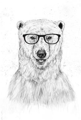 Geek Bear acrylglas print