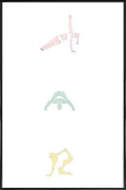 Yoga Practice 2 -Bild mit Kunststoffrahmen
