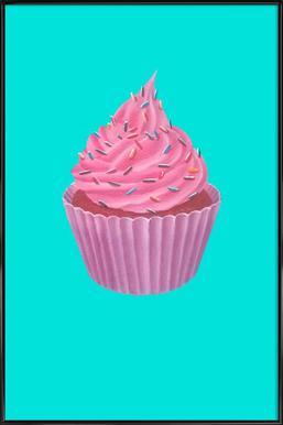 Cupcake -Bild mit Kunststoffrahmen