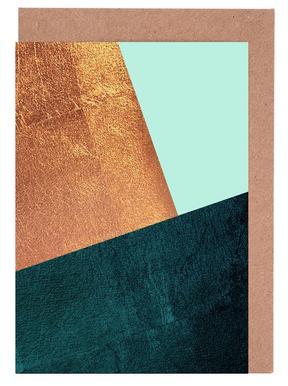 Kupfer Aqua Greeting Card Set