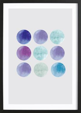 Dots - Poster in Wooden Frame