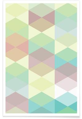 Melitta Pastell Geometrik Poster