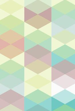 Melitta Pastell Geometrik Aluminium Print