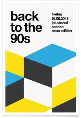 Back To The 90s - Premium Poster