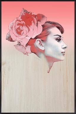 Audrey III -Bild mit Kunststoffrahmen