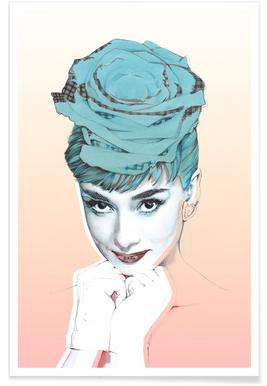 Audrey Pink Poster