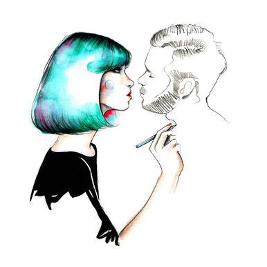 Kiss Me acrylglas print