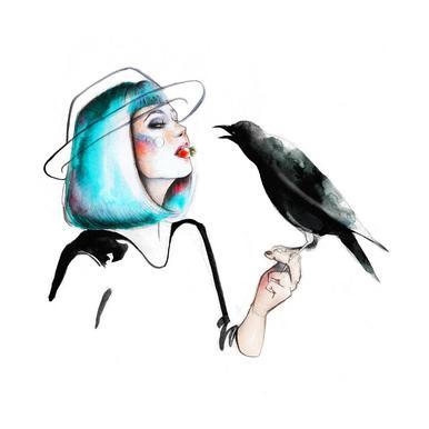 Crow -Acrylglasbild