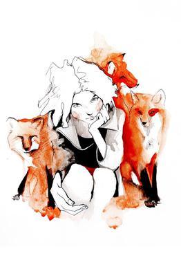 Foxy acrylglas print