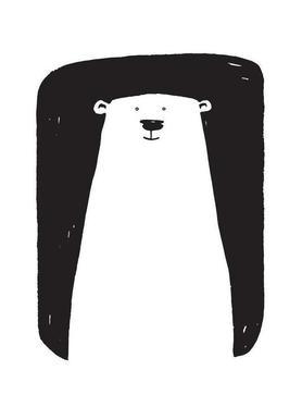 Bear canvas doek