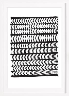 Herringbone - Poster in Wooden Frame