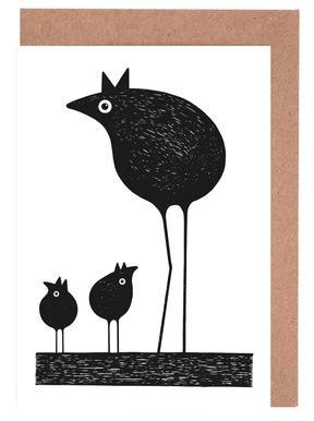 Birds -Grußkarten-Set