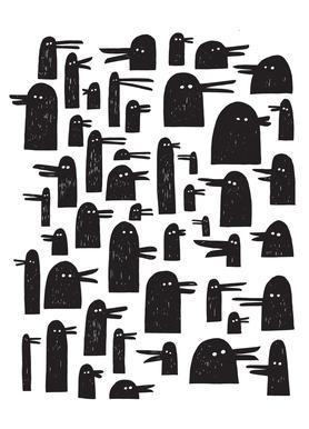 Ducks canvas doek