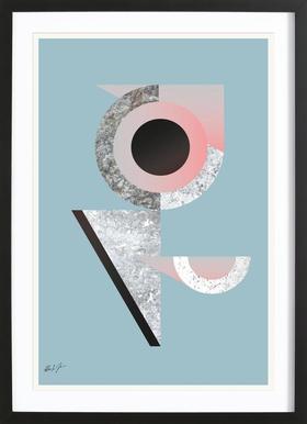 BAU2 - Affiche sous cadre en bois