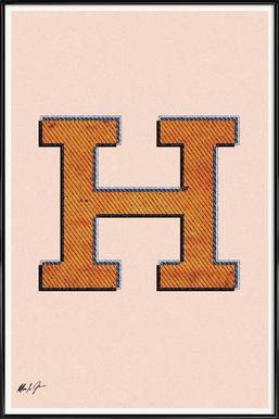H Framed Poster