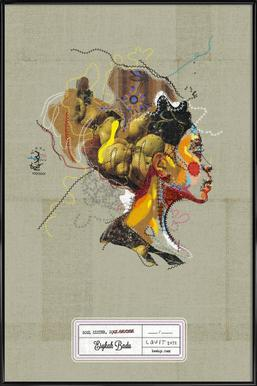 Erykah Portrait Framed Poster