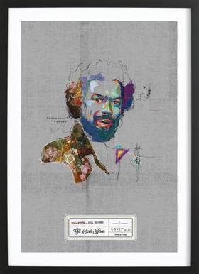 Soul Sister Soul Brother Title Framed Print