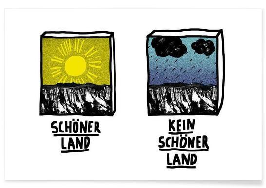 Schöner Land -Poster