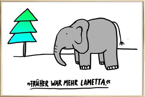 Lametta -Poster im Alurahmen