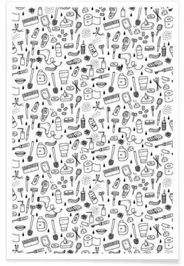 Shower Pattern -Poster