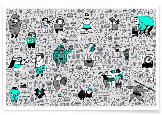 Kool Kids Pattern -Poster