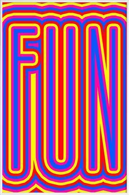 Fun Fun Fun - Poster in kunststof lijst