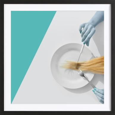 Hair High - Poster in Wooden Frame