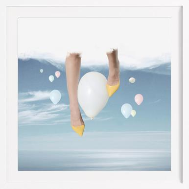 Cotton Candy Skies - Poster in houten lijst