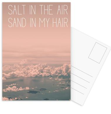 Salt in The Air Sand in My Hair -Postkartenset