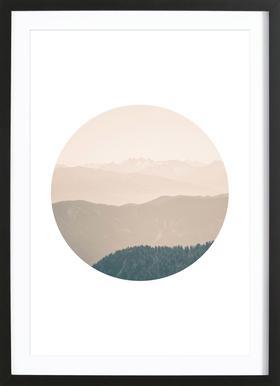 Circular 4 Karwendel Framed Print
