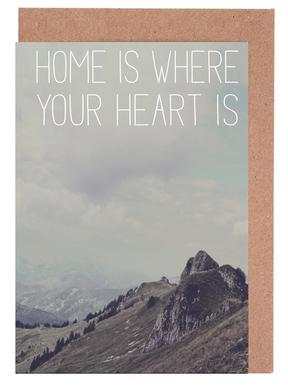 Home Is Where Your Heart Is -Grußkarten-Set