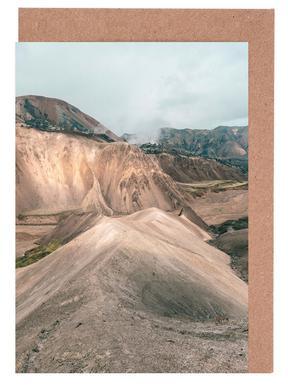 Raw 7 Landmannalaugar Iceland -Grußkarten-Set
