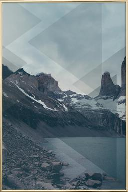 Scattered 4 Torres del Paine poster in aluminium lijst