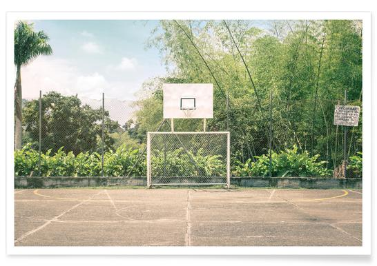 Streetball Courts 2 Manizales Colombia - Premium Poster