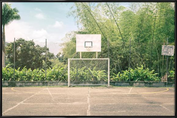 Streetball Courts 2 Manizales Colombia - Poster in kunststof lijst
