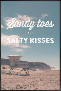 Sandy Toes and Salty Kisses ingelijste poster