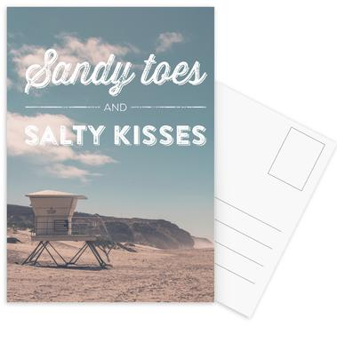 Sandy Toes and Salty Kisses -Postkartenset
