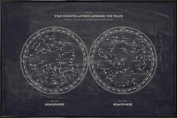 Starmap ingelijste poster