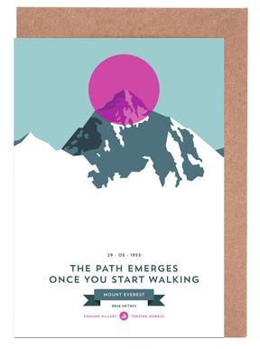 Mount Everest Pink -Grußkarten-Set