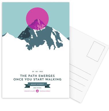 Mount Everest Pink -Postkartenset