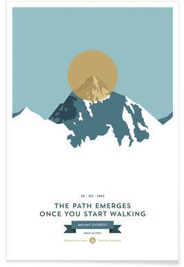 Mount Everest-Gold-Fotografie -Poster