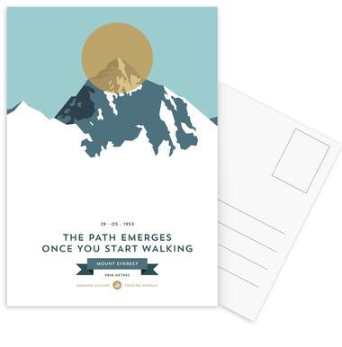 Mount Everest Gold -Postkartenset