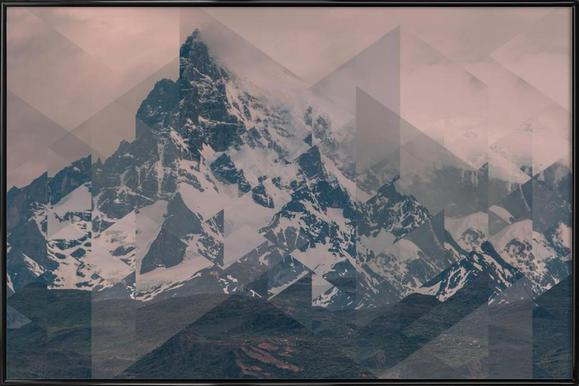 Puerto Natales Scattered -Bild mit Kunststoffrahmen