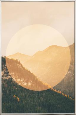 Landscapes Circular 2 Alps -Poster im Alurahmen