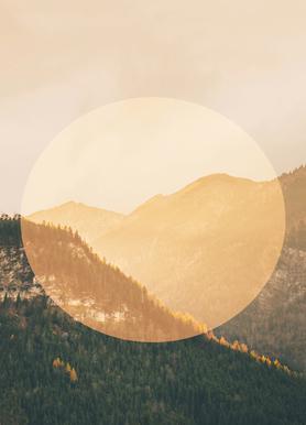 Landscapes Circular 2 Alps Canvas Print