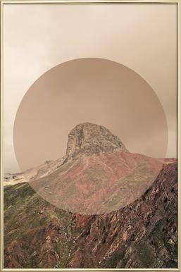 Landscapes Circular 2 Andes Poster in Aluminium Frame
