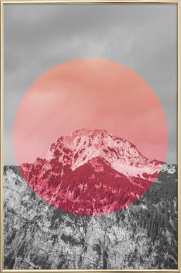 Landscapes Circular 2 Chacaltaya -Poster im Alurahmen